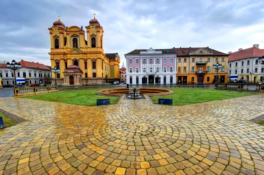 Union square, Timisoara, Romania